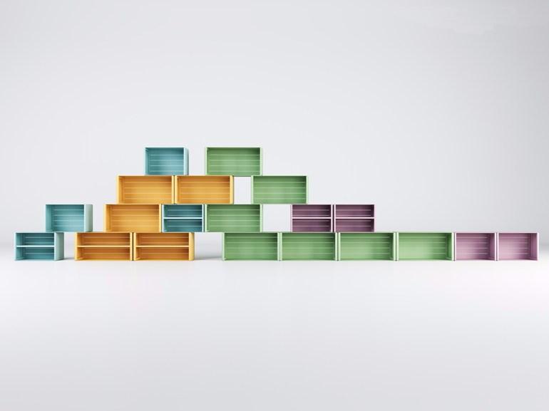 Aluminium bookcase units