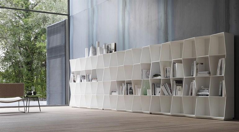 Bookcase wavy alivar