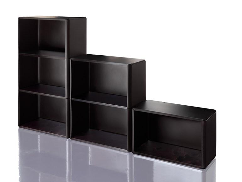 Sectional modular polupropylene bookcase