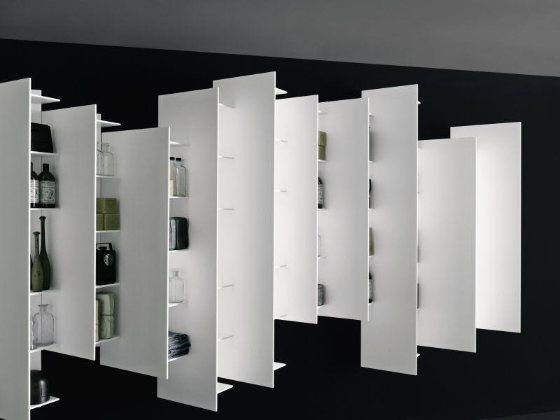 Tall bathroom bookshelf