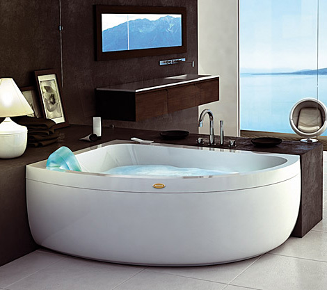 Corner garden tub and whirlpool from jacuzzi - Jacuzzi para interior ...