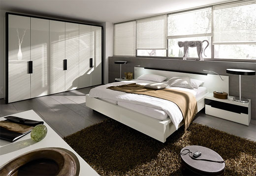 ... bedroom interior with wooden flooring View ...