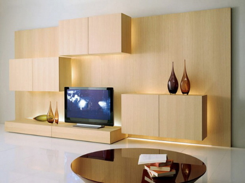 Modern TV Storage Wall Unit by Acerbis International
