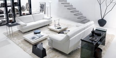 Black And White Living Rooms From Natuzzi Photo
