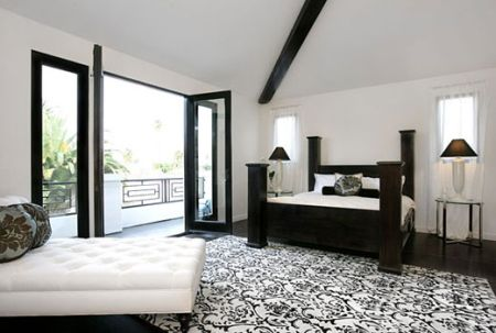Black and white home stands out with its bold patterns