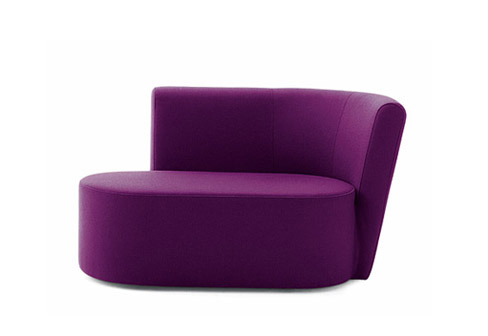 Add a touch of color to your living room with the Cor Ovo Recamiere