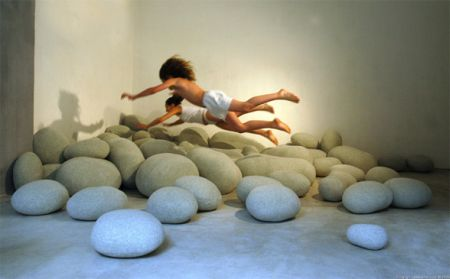 Comfort comes in unexpected forms – Rock cushion collection