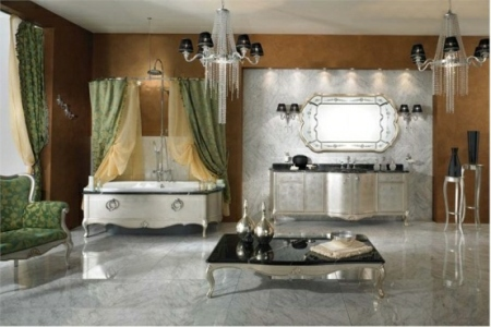 Gold Componibile bathroom furniture collection from Lineatre
