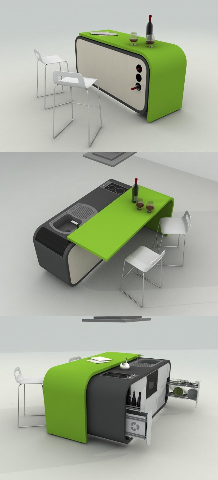 Saving space without compromises through modular furniture - Compact cribs small spaces model ...