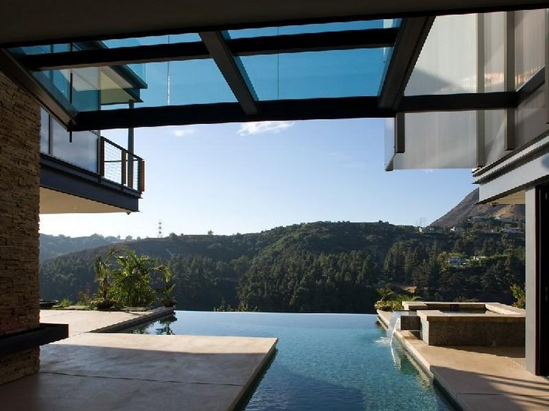 Hollywood Hills Architectural Masterpiece Images