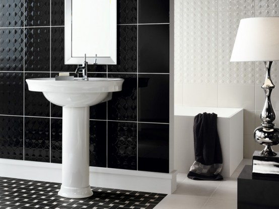 Time to give your bathroom wall a modern update with the York tile collection