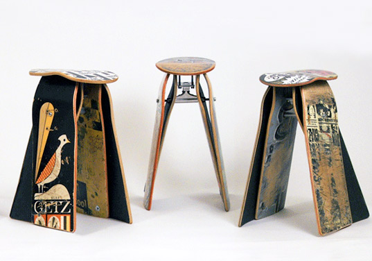 Deckstools Recycled Skateboard Furniture