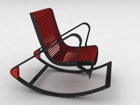 Interesting chair design by Peter Vardai