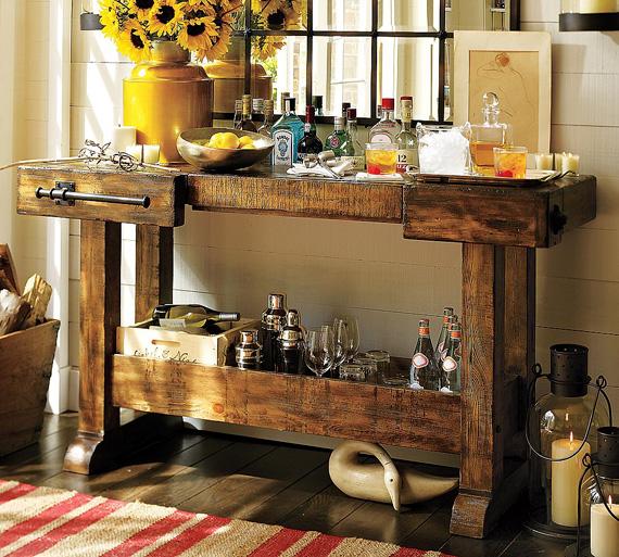 markham console bar. Black Bedroom Furniture Sets. Home Design Ideas