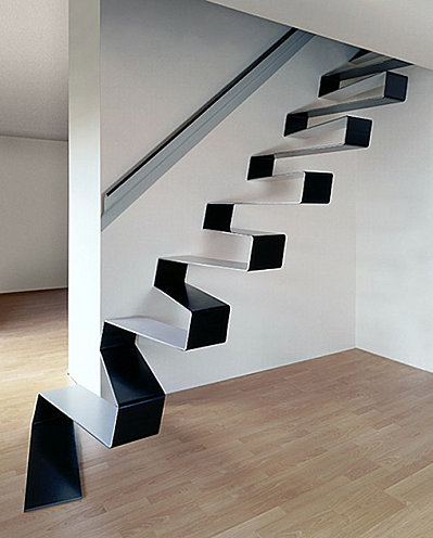 Perfect Ribbon Staircase By HSH Architects Nice Ideas
