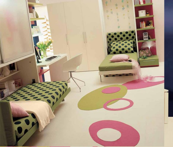 ideas for teen rooms with small space 17488 | teen bedroom double beds 582x495