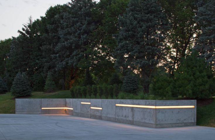 Concrete Fence LED lights
