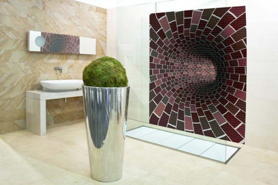 Amazing Mosaic Bathroom Tiles by Glassdecor