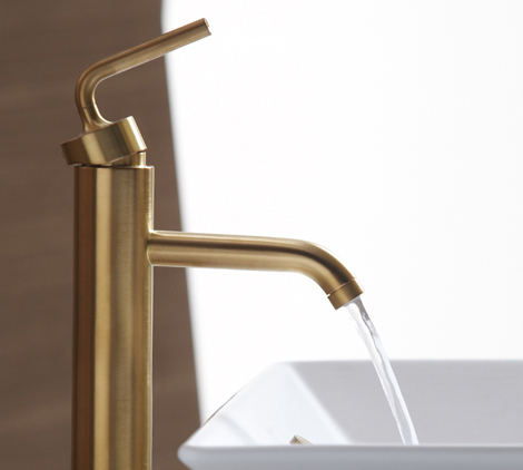 Kohler lavatory faucets Devonshire Homedit Brushed Gold Bathroom Faucets By Kohler