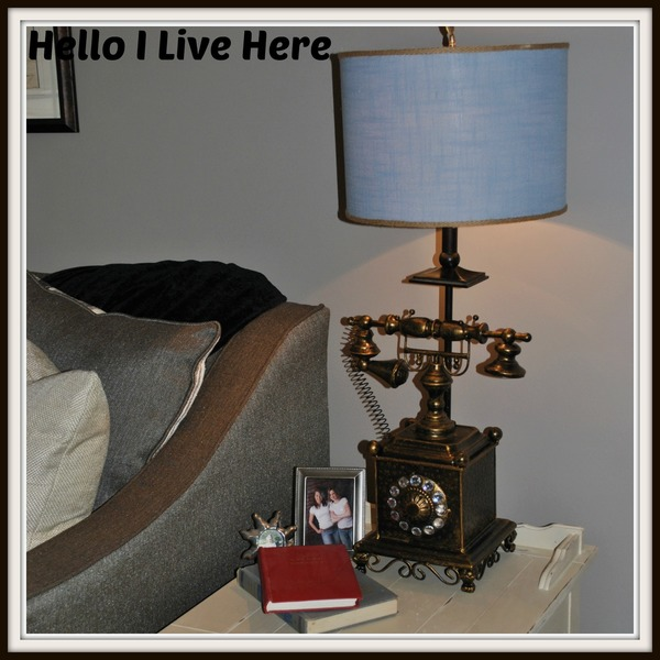 recycling light Antique Telephone Lamp