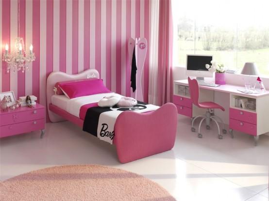 Мир принцессы Барби: комнаты для девочек и девушек в розовых тонах ... | 415x554