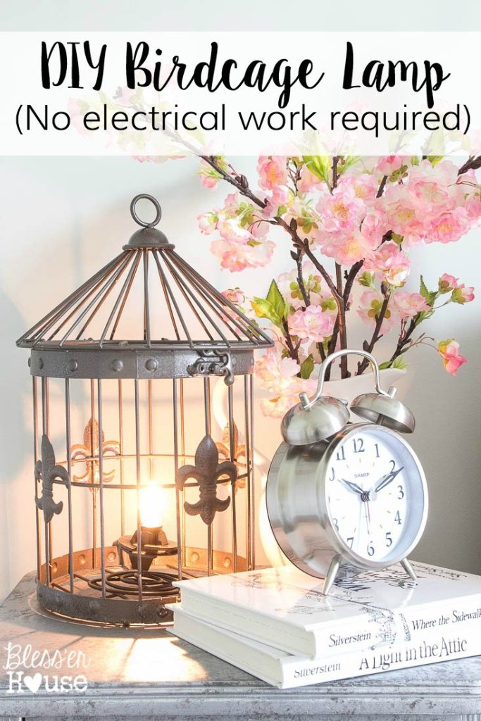 recycling light Beautiful Birdcage Upcycled Lamp