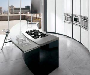 Black and White Kitchen by Ernestomeda