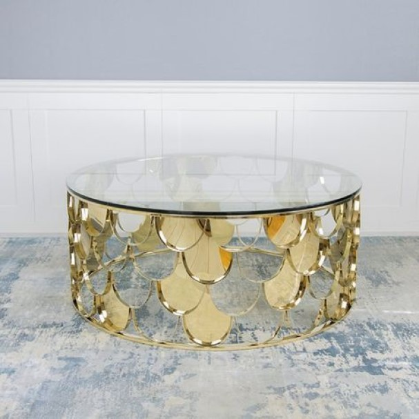 modern tables Glass Scale Table