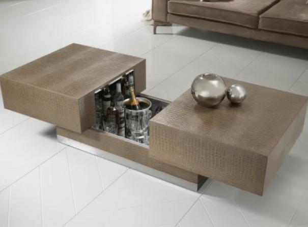 modern tables Hidden Bar Coffee Table