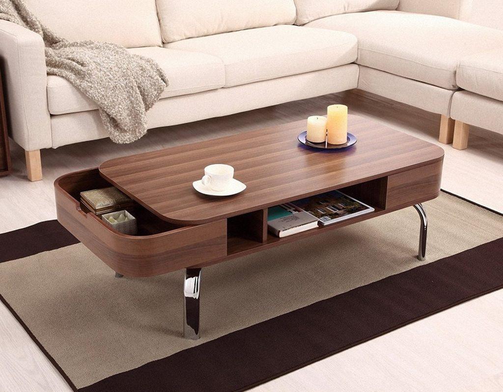 modern tables Hidden Storage Coffee Table