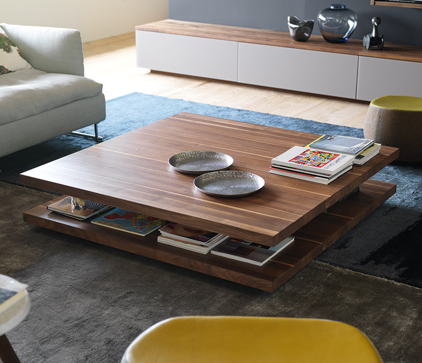 modern tables Low Modern Table With Extra Magazine Storage