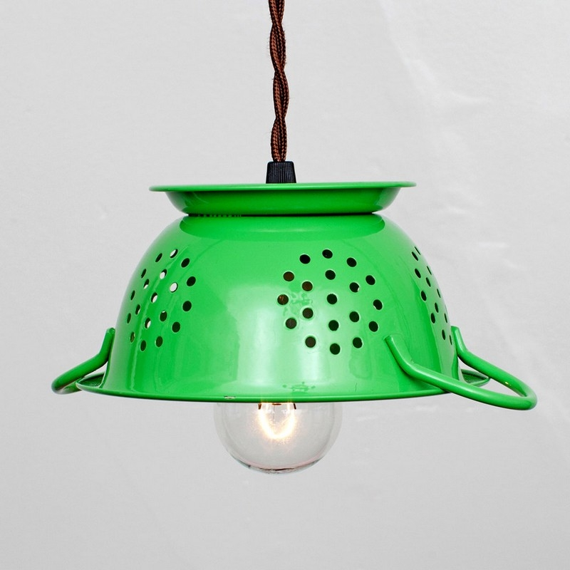 recycling light Metal Colander Lampshade
