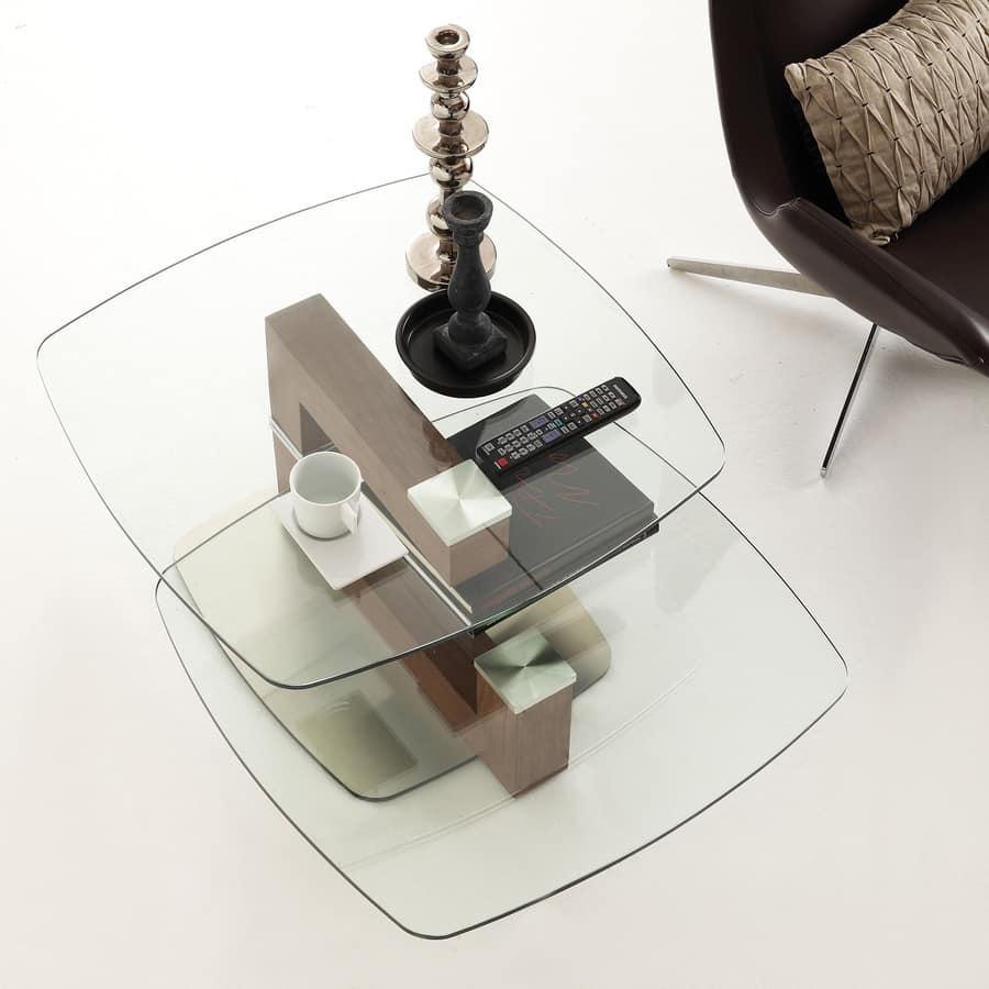 modern tables Minimalist Glass Swivel Table