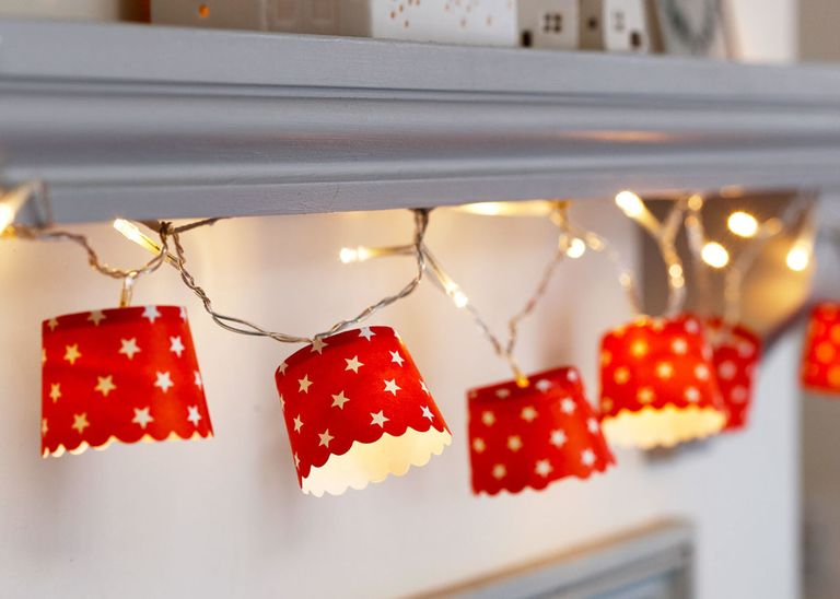 recycling light Paper Cup Fairy Lights