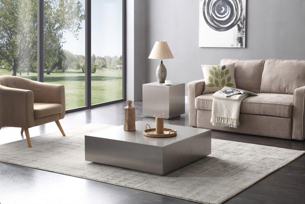 modern tables Stainless Steel Block