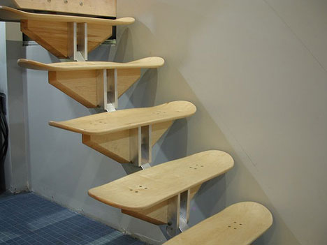 Stairs made of Skateboards