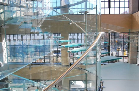 Stairs of Seemingly Floating Glass