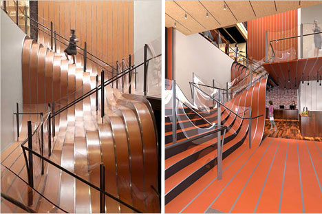 Stairs of Undulating steel