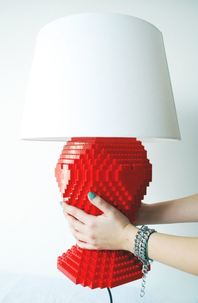 recycling light Turn Old Legos Into A New Light Masterpiece