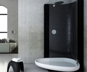 Lovely Black Showers By Glass Idromassaggio Photo