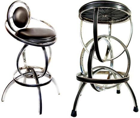 recycled-leather-metal-stools
