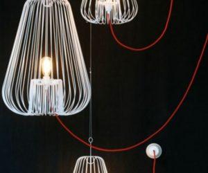 Small White Light Cage by Josselin Deris