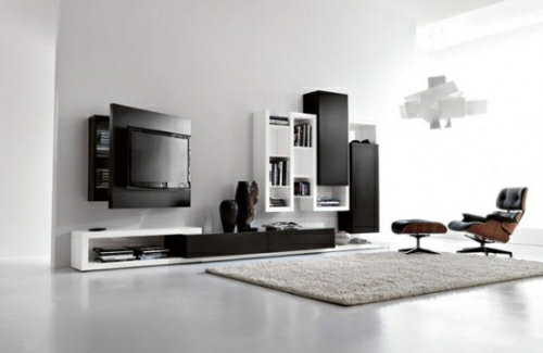 Black-and-white-living-room-furniture-with-functional-tv-stand-creative-side-system-by-Fimar-2-554x360