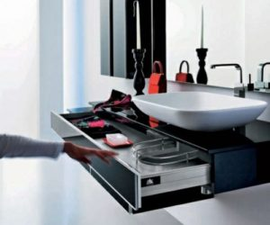 Onyx Black Bathroom Furniture by Stemik