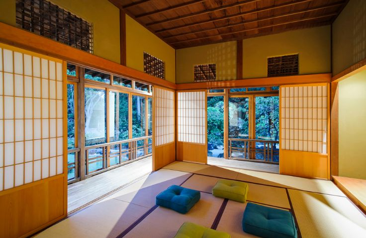 Floor seating for meditation room