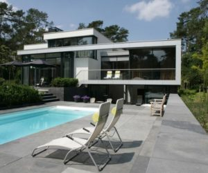 Modern house in the Netherlands is the classical dream home