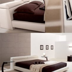 Logan Leather Bed With Adjustable Headboard