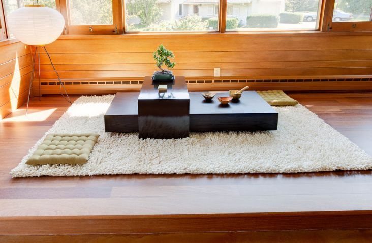 Low Black Coffee Table Design