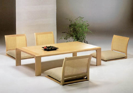 Japanese dining room furniture from hara design for Full room furniture design