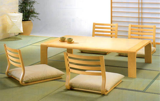 Traditional Japanese Dining Room Furniture from Hara Design 2